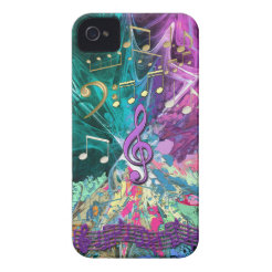 Music Explosion iPhone 4 Covers