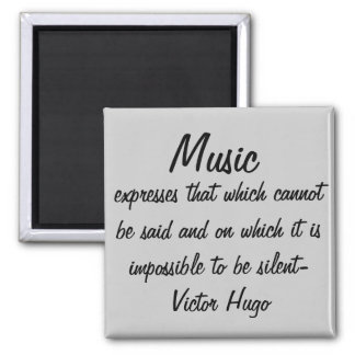 Music expresses... 2 inch square magnet