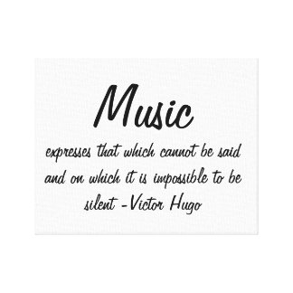 Music expresses... canvas print