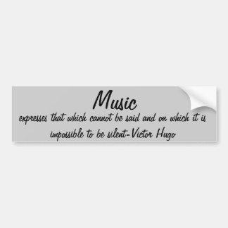 Music expresses... car bumper sticker