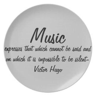 Music expresses... dinner plate