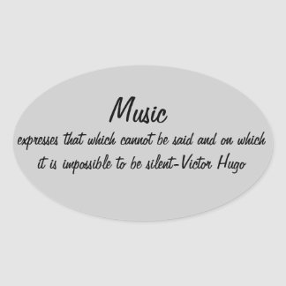 Music expresses... oval sticker