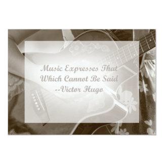 Music Expresses that guitar photo saying Card