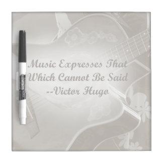 Music Expresses that guitar photo saying Dry-Erase Whiteboard