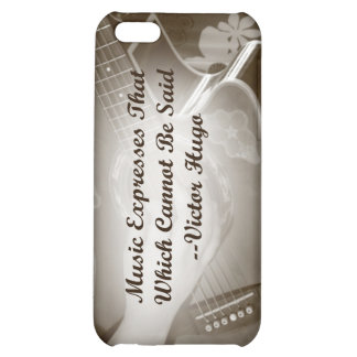 Music Expresses that guitar photo saying iPhone 5C Cover