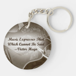 Music Expresses that guitar photo saying Keychain