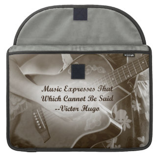 Music Expresses that guitar photo saying MacBook Pro Sleeve