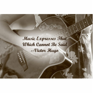 Music Expresses that guitar photo saying Photo Cut Out
