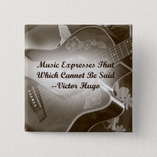 Music Expresses that guitar photo saying Pinback Button