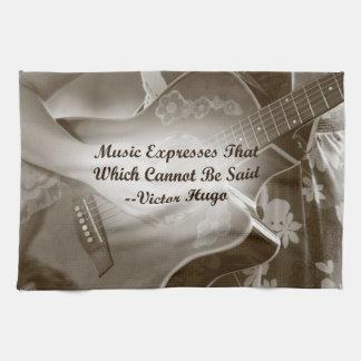 Music Expresses that guitar photo saying Towel