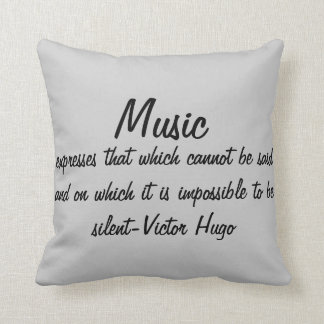 Music expresses... throw pillow