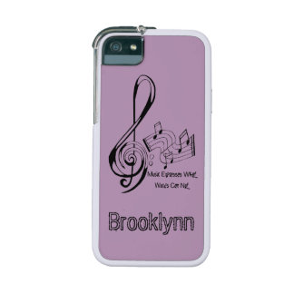 Music Expresses What Words Can Not Treble and Bass iPhone 5 Cases