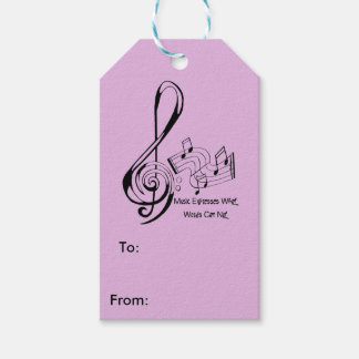 Music Expresses What Words Can Not Treble and Bass Gift Tags