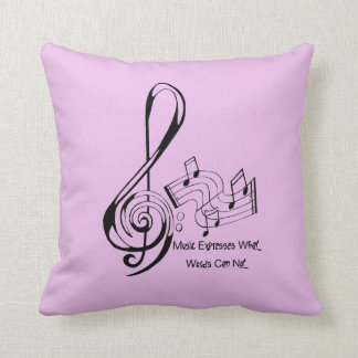 Music Expresses What Words Can Not Treble and Bass Pillow