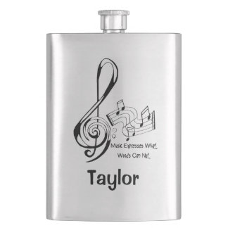 Music Expresses What Words Can Not Treble and Bass Flask