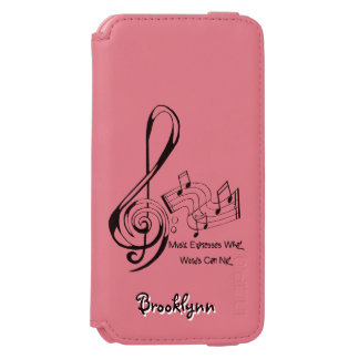 Music Expresses What Words Can Not Treble and Bass Incipio Watson™ iPhone 6 Wallet Case