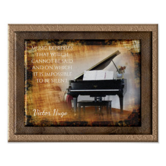 Music Expression -- Victor Hugo Quote - Art Print