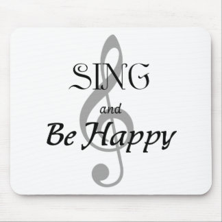 """Music Expressions """"SING and Be Happy"""" Mouse Pad"""