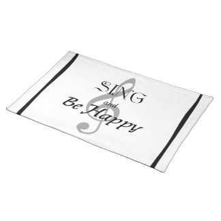 "Music Expressions ""SING and Be Happy"" Place Mats"