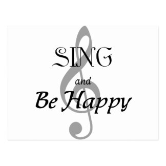 "Music Expressions ""SING and Be Happy"" Postcard"