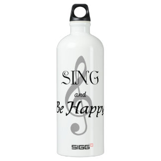 "Music Expressions ""SING and Be Happy"" Water Bottle"