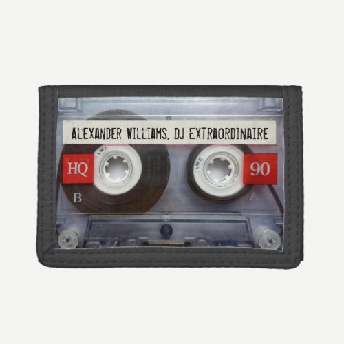 Music Extraordinaire Cassette Tape Tri-fold Wallet