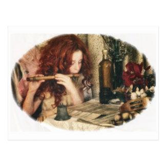 Music Fairy at Work Postcard