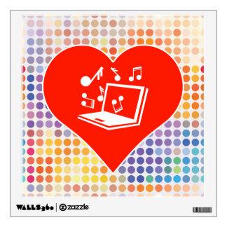 Music Fan Room Sticker