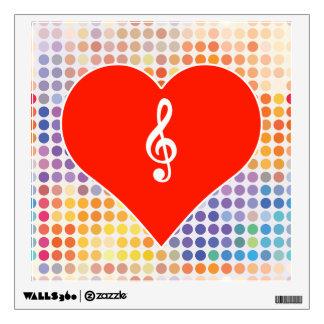 Music Fan Wall Stickers