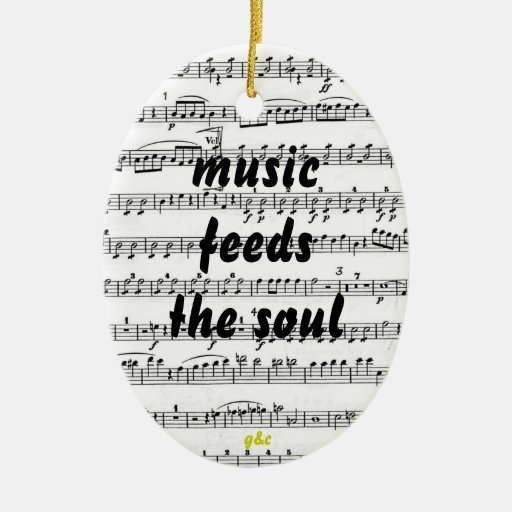 music feeds the soul christmas ornaments