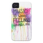Music & Feelings iPhone 4 Covers