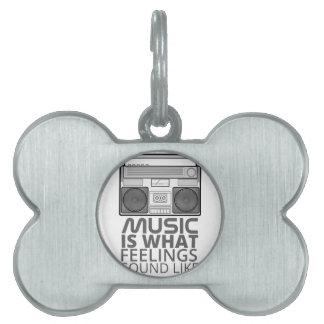 Music Feelings Pet ID Tag
