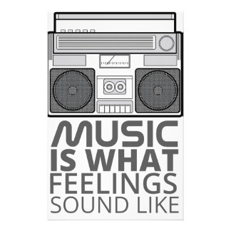 Music Feelings Stationery
