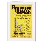 Music Festival America 1938 WPA Card