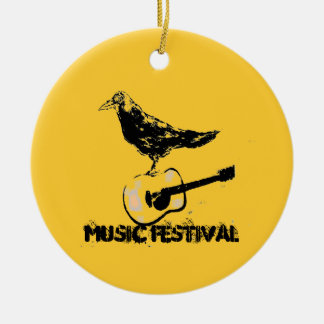 music festival art ceramic ornament