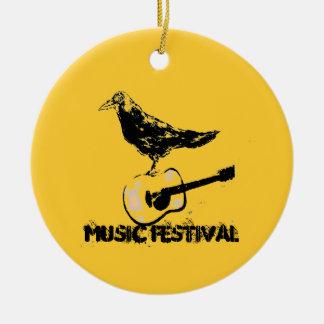 music festival art ceramic ornament