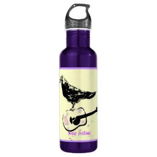 music festival art 24oz water bottle