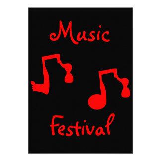 Music Festival - Invitation- Customizable