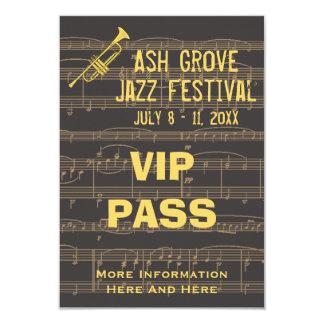 Music Festival Pass Golden Trumpet Chocolate (S) 3.5x5 Paper Invitation Card