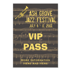 Music Festival Pass Golden Trumpet Chocolate (s) Card at Zazzle