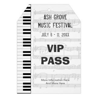 Music Festival Pass Piano Keyboard (Tag Style) Invitation