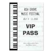 Music Festival Pass Piano Keyboard Theme Template at Zazzle