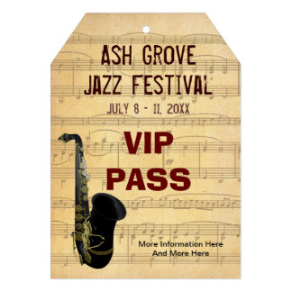 Music Festival Pass Saxophone Theme (Tag Style) Announcement