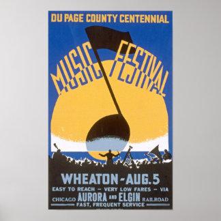 Music Festival Vintage Poster