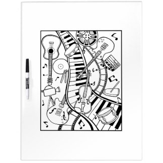 Music Film Festival Adult Coloring Dry Erase Board