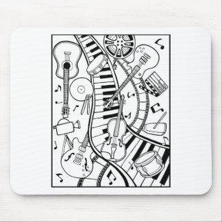 Music Film Festival Line Art Design Mouse Pad