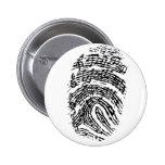 Music Fingerprint 2 Inch Round Button