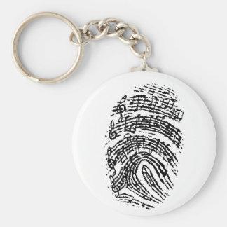 Music Fingerprint Key Chains