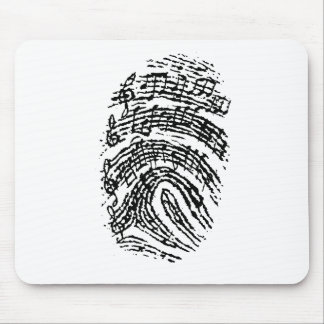 Music Fingerprint Mouse Pad