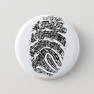 Music Fingerprint Pinback Button